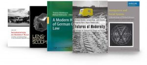 Five academic books in a row: Intervention as Indirect Rule; Lens Based Sculpture; A Modern History of German Criminal Law; Futures of Moderity; Immigration and Social Systems